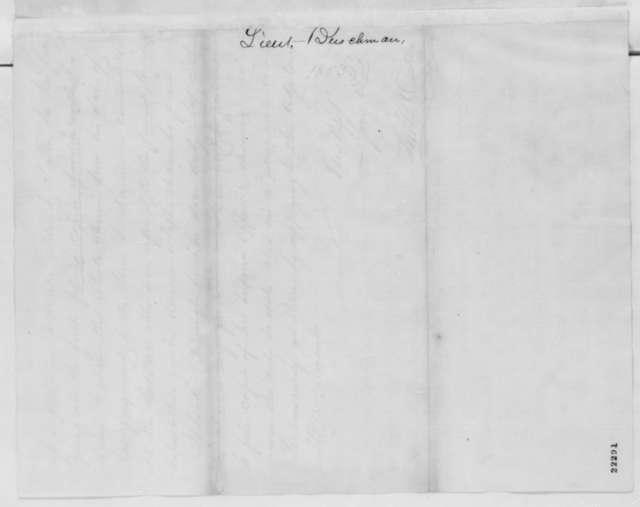 Thomas B. Oakley to Ira Harris, Sunday, March 08, 1863  (Case of Lieutenant Buschmann)