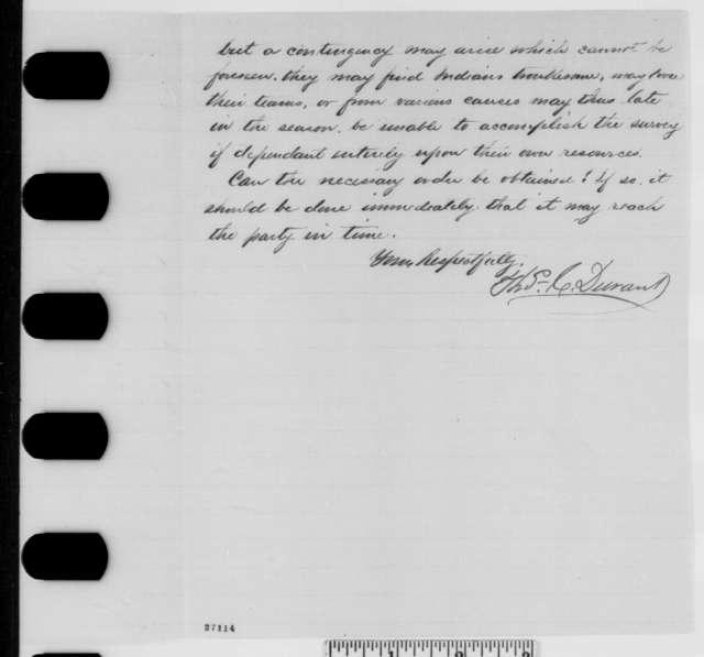 Thomas C. Durant to Abraham Lincoln, Saturday, October 10, 1863  (Union Pacific Railroad)