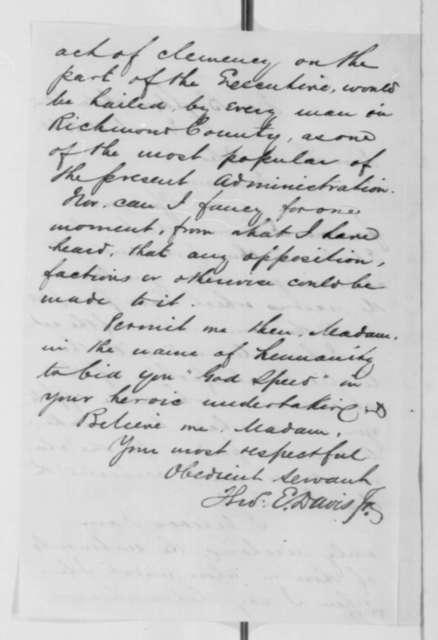Thomas E. Davis Jr. to Louisa Coles, Monday, March 02, 1863  (Case of Isaac Fowler)