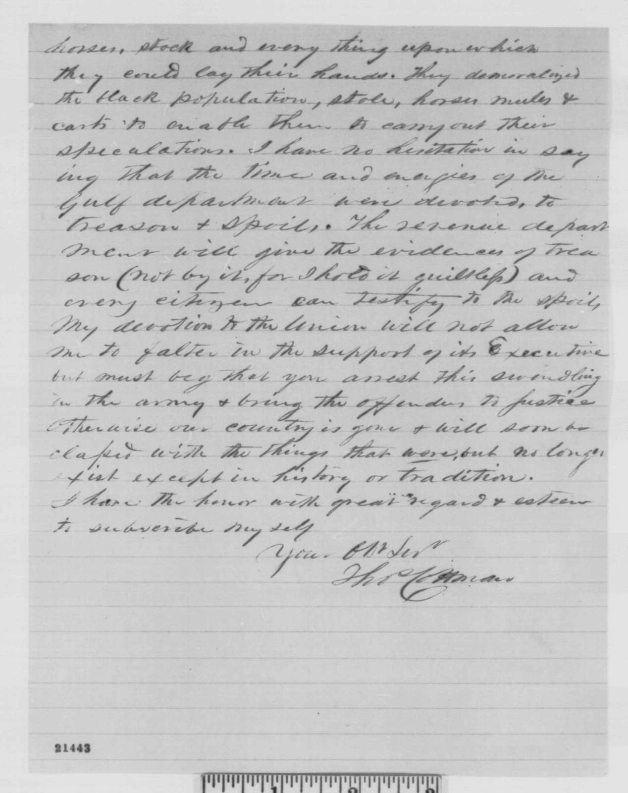 Thomas E. H. Cottman to Abraham Lincoln, Saturday, January 31, 1863  (Critical of Congressional election in 2nd district of Louisiana)