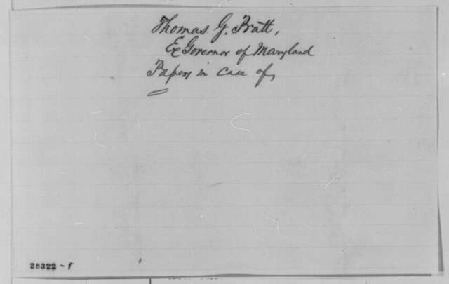 Thomas G. Pratt to Edwin M. Stanton, Saturday, November 28, 1863  (Pratt's treatment during recent elections in Maryland)