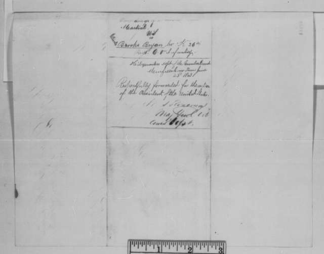 Thomas J. Wood to C. Goddard, Saturday, June 06, 1863  (Sends court martial proceedings)