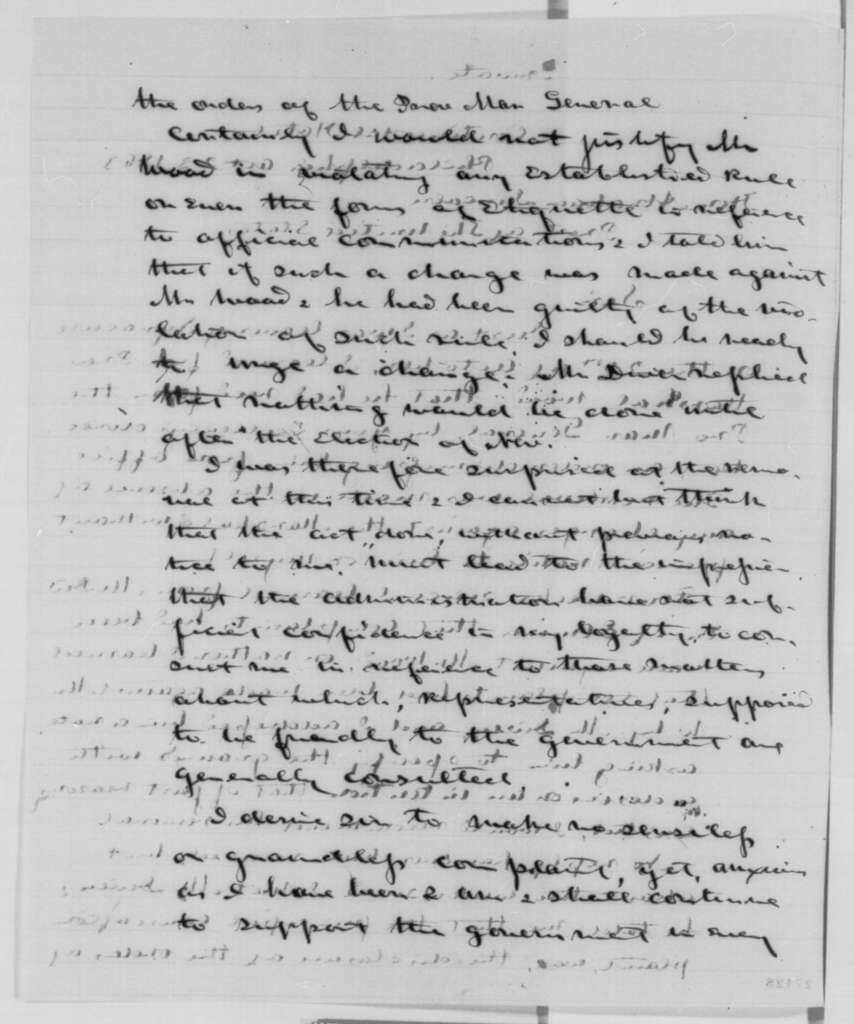 Thomas T. Davis to Abraham Lincoln, Friday, October 23, 1863  (Removal of provost marshal at Syracuse)