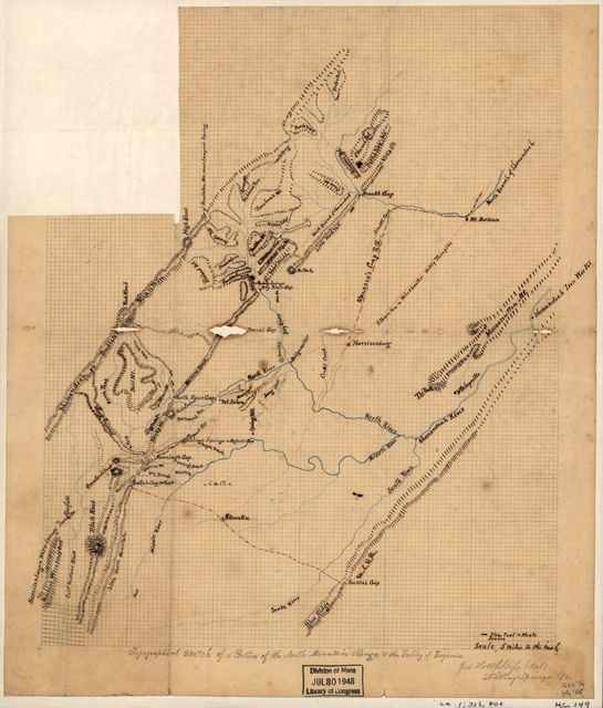 Topographical sketch of a portion of the North Mountain Range & the Valley of Virginia /