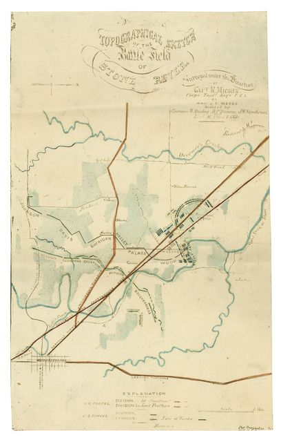 Topographical sketch of the Battle field of Stone River /