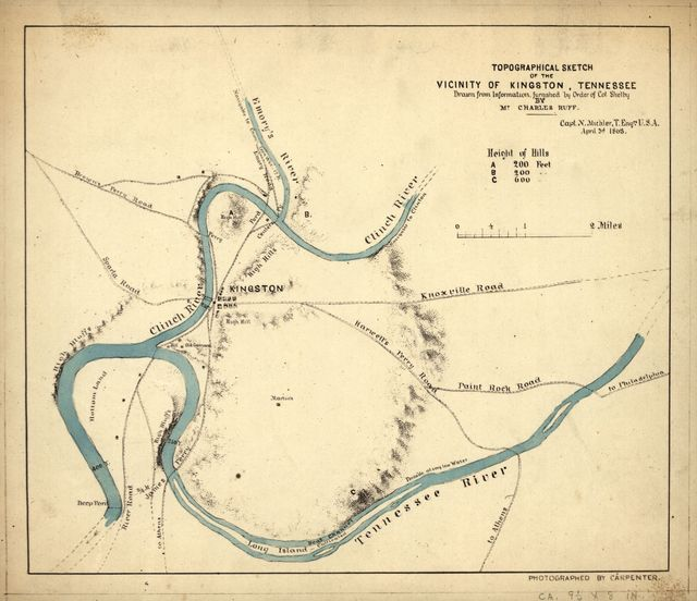 Topographical sketch of the vicinity of Kingston, Tennessee /
