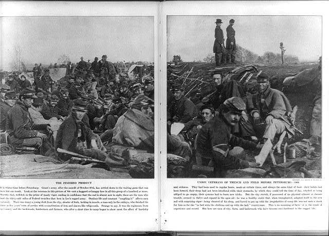 Union veterans of trench and field before Petersburg Dec. 1864
