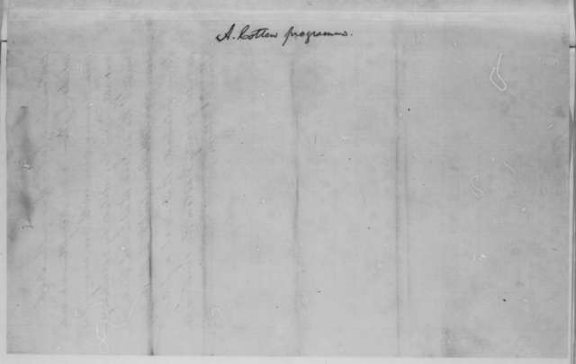 Unknown, Monday, February 16, 1863  (Cotton Report; endorsed by Lincoln)