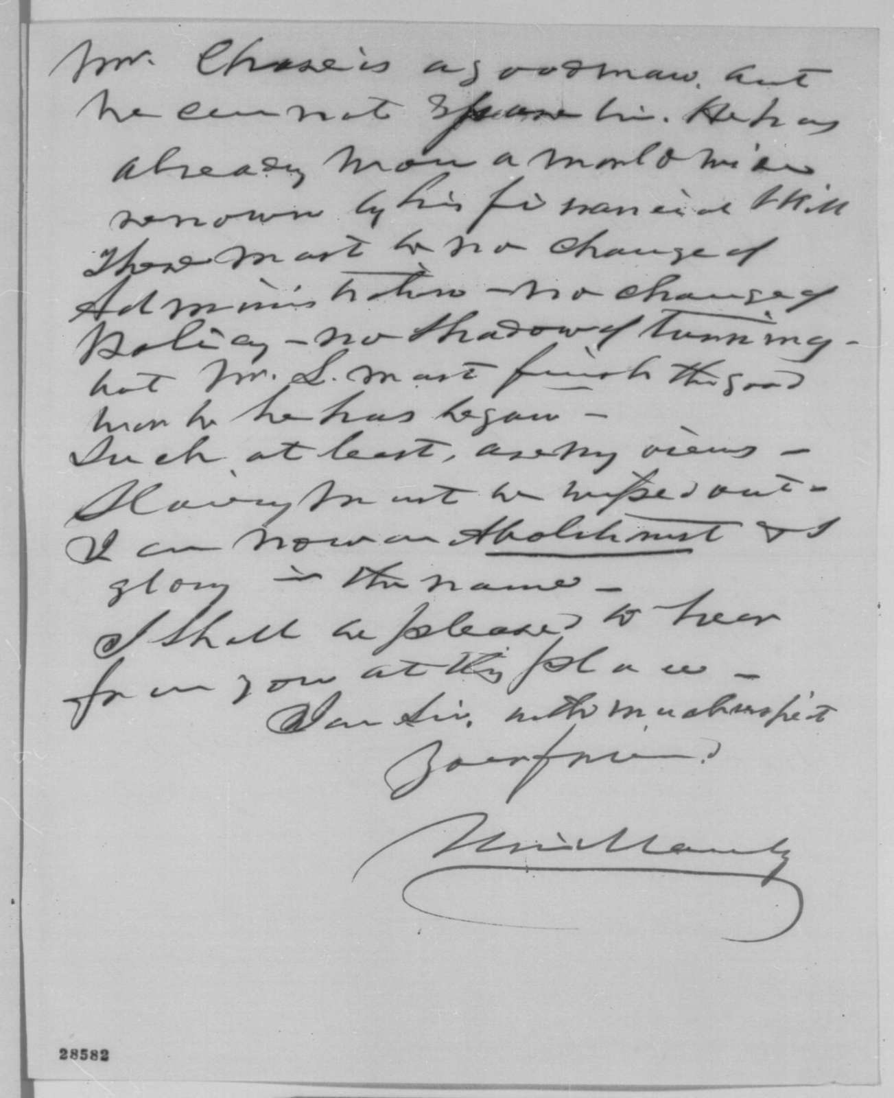 Uri Manly to William P. Dole, Wednesday, December 09, 1863  (Appointment and 1864 presidential election)