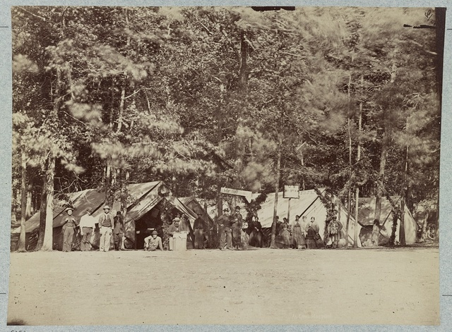 U.S. Cristian (i.e. Christian) Commission at Gettysburg General Hospital, August, 1863