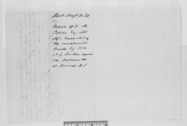 V. A. Pepin to Robert K. Scott, Monday, August 31, 1863  (Investigation at Orange, New Jersey post office)