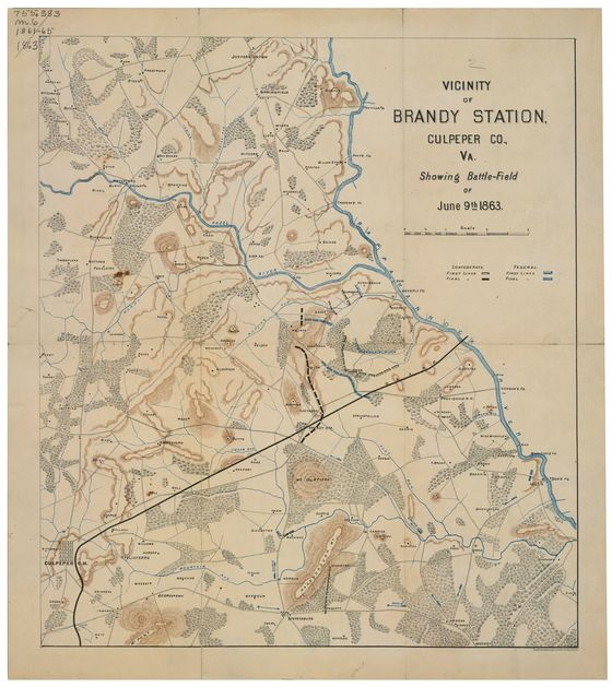 Vicinity of Brandy Station, Culpeper Co., Va. : showing battle-field of June 9th 1863.