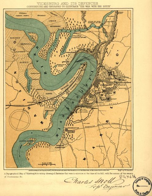 "Vicksburg and its defences. Constructed and engraved to illustrate ""The war with the South"""
