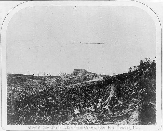 View of cavalliere [i.e., cavalier] taken from Central Gap, Port Hudson, La.
