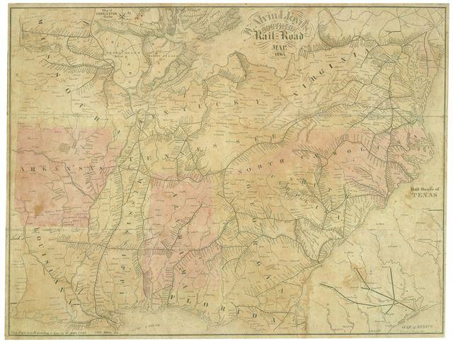 W. Alvin Lloyd's southern rail-road map, 1863