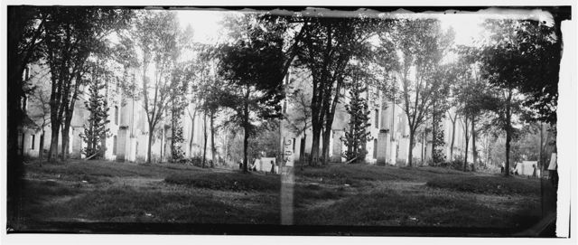 Warrenton, Virginia (vicinity). Ruins of White Sulphur Springs hotel