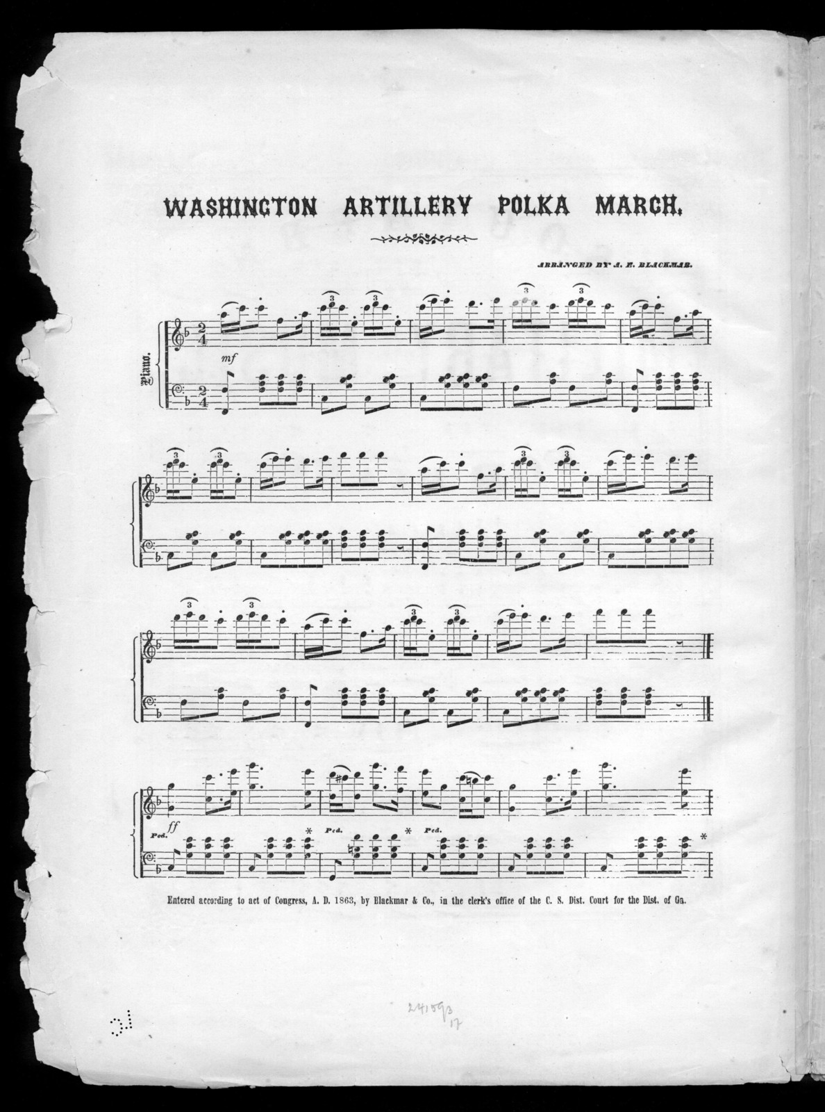 Washington artillery polka march