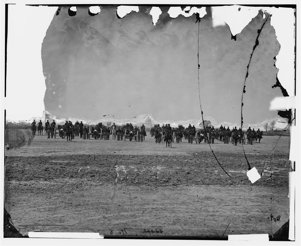 Washington, District of Columbia. 17th New York Independent Battery Light Artillery on review