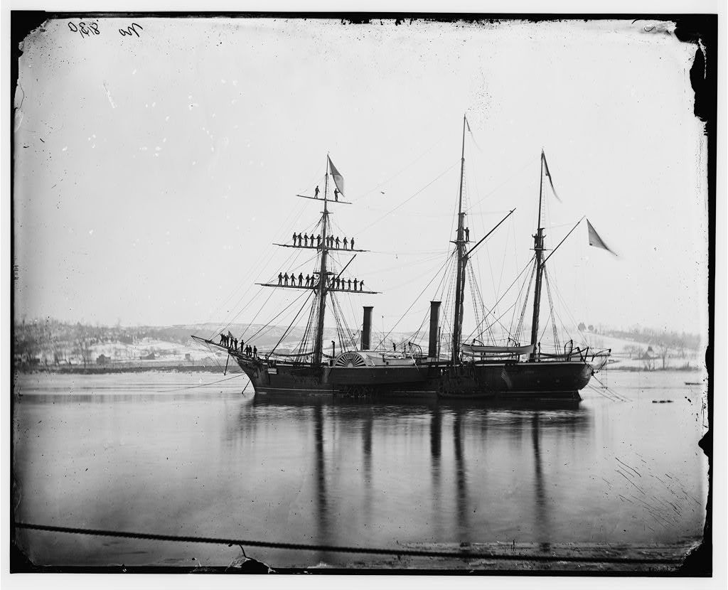 [Washington, District of Columbia]. Brazilian Steam Frigate at Navy Yard. Yards manned on the occasion of the President's visit