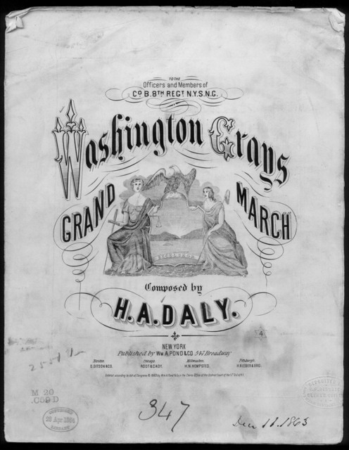 Washington greys grand march