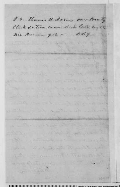 William C. Goodloe to Green Adams, Sunday, January 25, 1863  (Political affairs in Kentucky)
