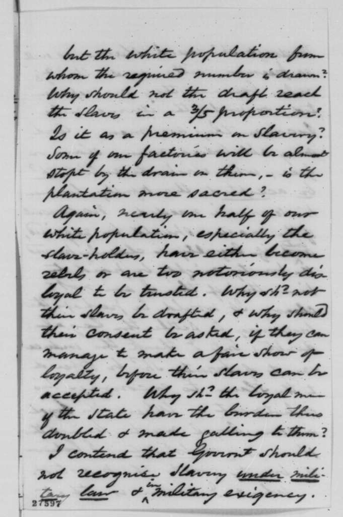 William G. Eliot to John M. Forbes, Friday, October 30, 1863  (Slavery in Missouri)