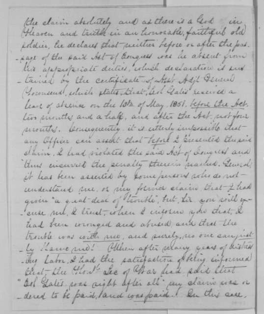 William Gates to Edward R. S. Canby, Wednesday, December 30, 1863  (Claim against the government)
