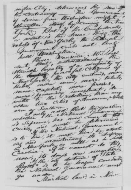 William Goodell to Abraham Lincoln, Tuesday, July 14, 1863  (New York draft riot)