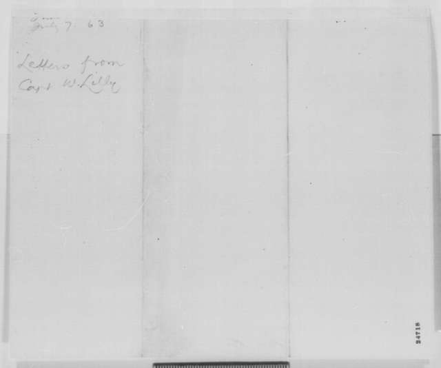 William Lilley to Abraham Lincoln, Tuesday, July 07, 1863  (Cover letter)