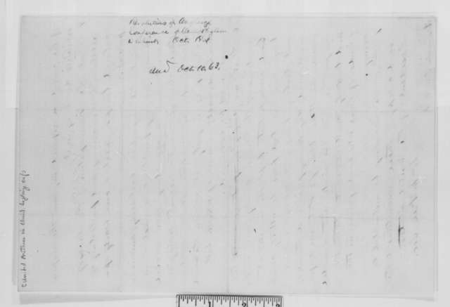 William McKee to Abraham Lincoln, Monday, October 05, 1863  (Sends report from United Brethren in Christ)
