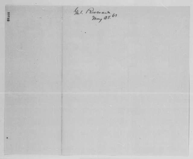 William S. Rosecrans to Henry W. Halleck, Thursday, May 28, 1863  (Telegram regarding military news)