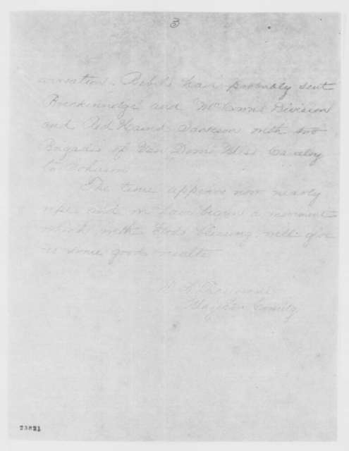 William S. Rosecrans to Henry W. Halleck, Tuesday, June 02, 1863  (Telegram concerning General Grant and military developments at Vicksburg)