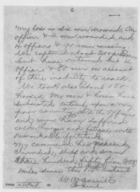 William W. Averell to Henry W. Halleck, Monday, December 21, 1863  (Telegram concerning military affairs)