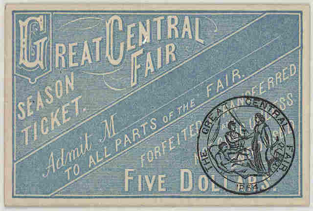 [18 different tickets of admission to the Great Central fair for the U. S. Sanitary commission.].