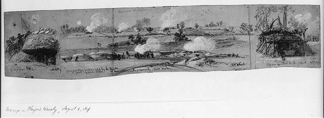 A gopher hole. Commanding position held by the Rebels in front of Genl. Warren. Officers quarters on the front