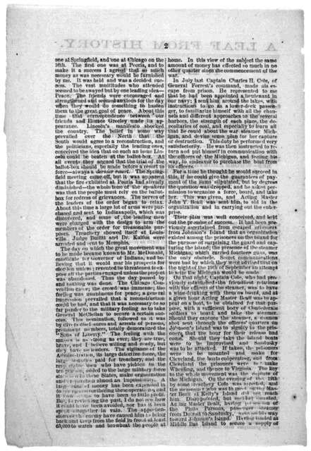 A leaf from history. Report of J. Thompson, secret agent of the late Confederate government, stationed in Canada, for the purpose of organizing insurrection in the Northern states and burning their principal cities ... Published by the Union Rep