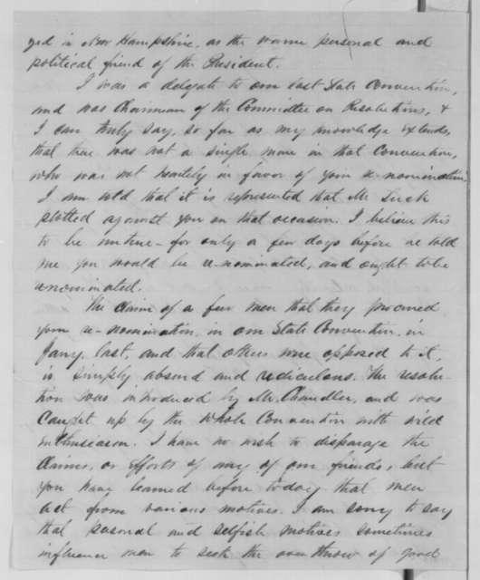 Aaron H. Cragin to Abraham Lincoln, Saturday, December 24, 1864  (Amos Tuck)