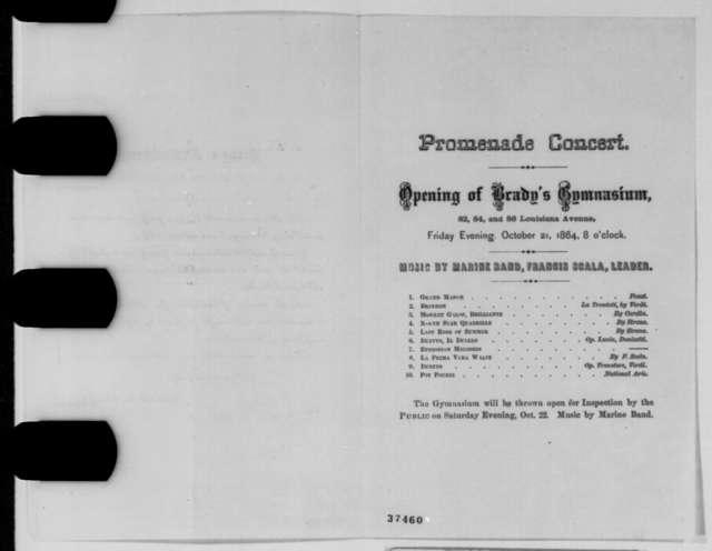 Abner S. Brady, Friday, October 21, 1864  (Printed Invitation)