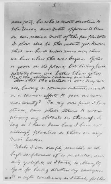 Abraham Lincoln, [November 10, 1864]  (Response to Serenade)
