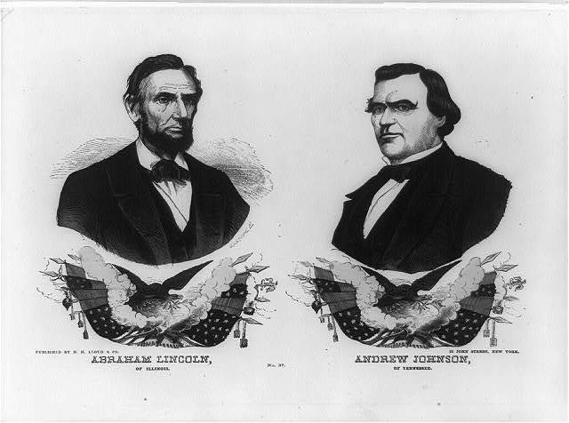 Abraham Lincoln of Illinois. Andrew Johnson of Tennessee. No. 37 / G. Kaehrle [Gabriel Kaehrle].