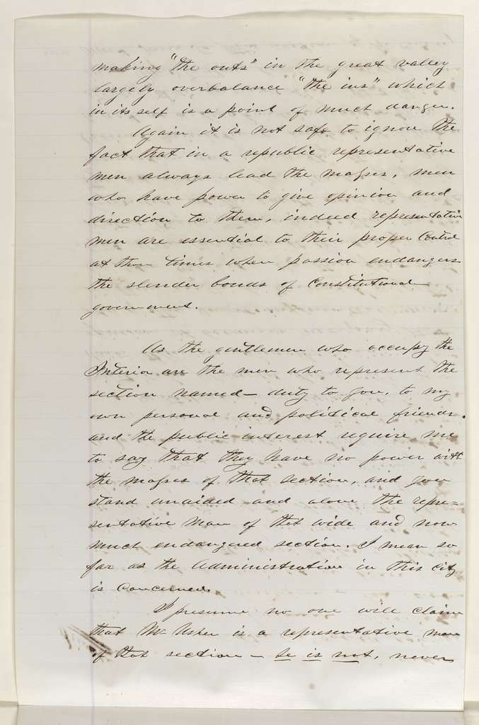 Abraham Lincoln papers: Series 1. General Correspondence. 1833-1916: James Mitchell to Abraham Lincoln, Friday, September 02, 1864 (Politics)