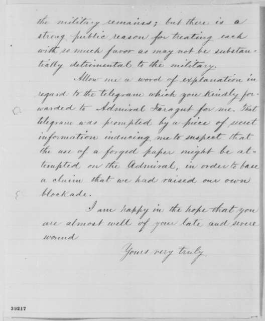 Abraham Lincoln to Edward R. S. Canby, Monday, December 12, 1864  (Cotton trade and political affairs in Louisiana)