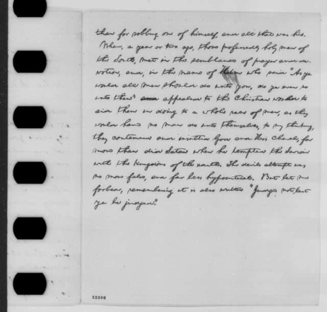 Abraham Lincoln to James R. Doolittle, George B. Ide, and A. Hubbell, Monday, May 30, 1864  (Lincoln's reply to delegation of Baptists)