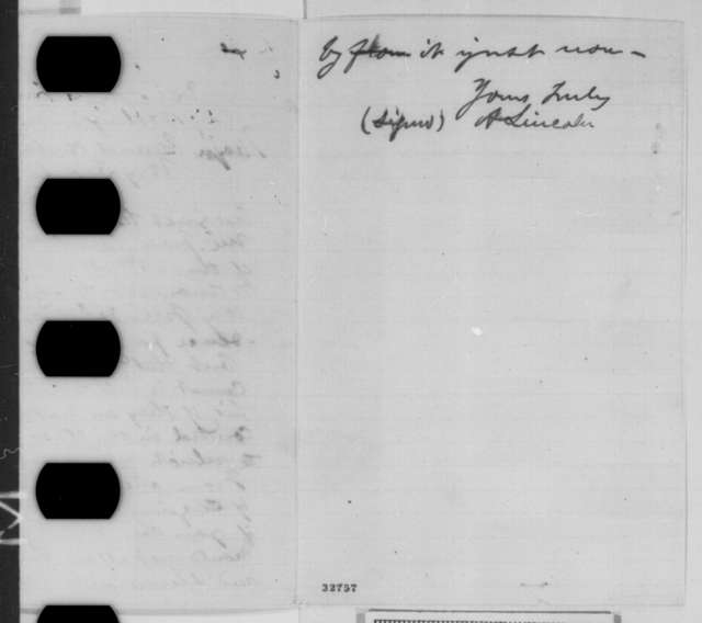 Abraham Lincoln to Stephen A. Hurlbut, Monday, May 02, 1864  (Court of inquiry)
