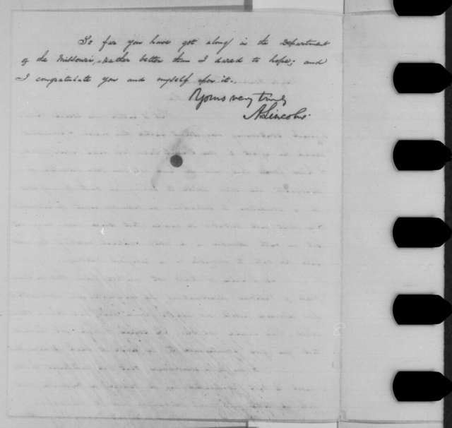 Abraham Lincoln to William S. Rosecrans, Monday, April 04, 1864  (Special Order No. 61)