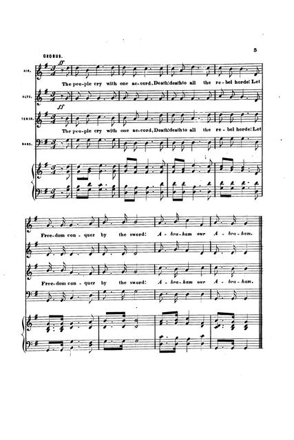 Abraham! our Abraham!: a rallying song and chorus to the popular melody Maryland! my Maryland! newly arranged by W. F. Sherwin; [words by H.].