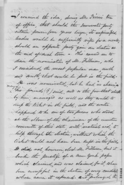 Albert B. Cooley to Abraham Lincoln, Wednesday, February 10, 1864  (Political affairs)