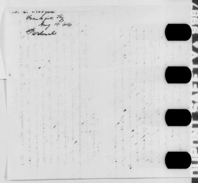 Albert G. Hodges to Abraham Lincoln, Thursday, August 11, 1864  (Seeks office)