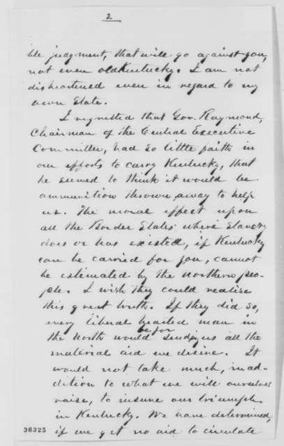 Albert G. Hodges to Abraham Lincoln, Thursday, September 15, 1864  (Politics)