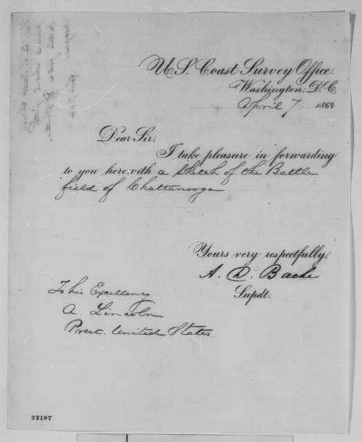 Alexander D. Bache to Abraham Lincoln, Thursday, April 07, 1864  (Cover letter)
